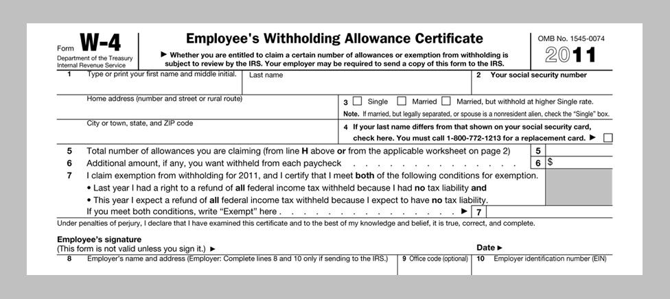 free printable w 4 forms